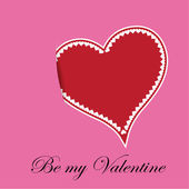 バレンタインの日の心 — ストックベクタ