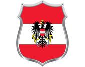 Oostenrijk schild — Stockvector