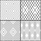 Geometric monochrome set — Stock Vector