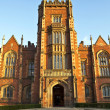 Stock Photo: Queens university Belfast front entrance 1