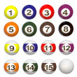 3d set of Pool balls — Stockfoto