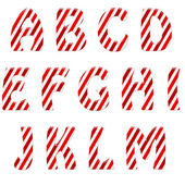 Candy cane text — Stock Photo