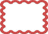 Candy cane striped border — Stock Photo