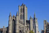 St. Nicholas' Church in Gent — Stock Photo