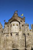 Gravensteen Castle in Ghent Belgium — Stock Photo