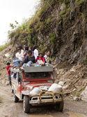 Jeepney surfing — Stock Photo