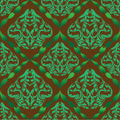Green damask pattern — Stock Vector