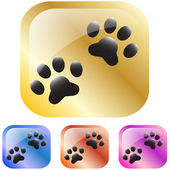 Dog paw icon — Stock Vector