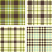 Plaid patterns — Vetor de Stock
