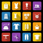 Dressmaking icons — Stock Vector