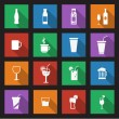 Set of sixteen drink icons — Stock Vector #32457815