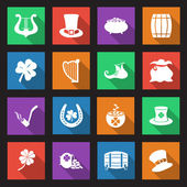 St Patricks Day icons — Vetor de Stock