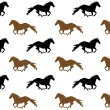 Stock Vector: Running horses