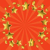 Flying stars sunburst — Stock Vector