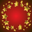 3d Star Background — Stock Vector