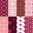 Valentines day pattern — Stockvectorbeeld