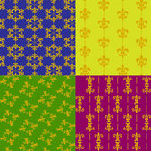 Fleur de lis Patterns — Vetor de Stock