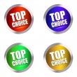 Top choice buttons — Stock Vector