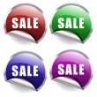 Sale Buttons — Stock Vector