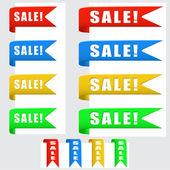 Banner in vendita — Vettoriale Stock