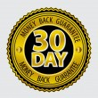 Stock Vector: 30 Day Money back Guarantee