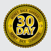 30 Day Money back Guarantee — Stock Vector