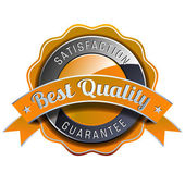 Satisfaction guarantee label — Vetor de Stock
