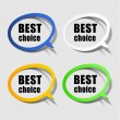 Stock Vector: Best choice paper labels