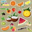 Set Fruit - Stock Vector