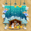 Crib collage on a light background decorated — Stock Vector #17199315