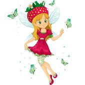 Strawberry fairy — Stock Vector