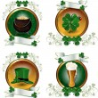 Stock Vector: Symbols of St Patrick
