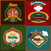Four menus set vintage style — Stock Vector