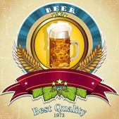 Bier etikett — Stockvektor