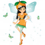 Orange fairy — Stock Vector