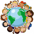 All united in the world - Stock Vector