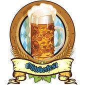 Oktoberfest beer — Stock Vector