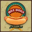 Stock Vector: Hot Dogs Vintage