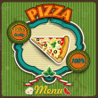 Menu pizza — Stock Vector #24873907