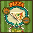 Menu pizza — Stock Vector