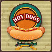 Hot Dogs Vintage — Stock Vector