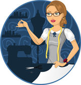 Seamstress — Stock Vector