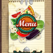 Menu cover with sheet of paper — Stock Vector
