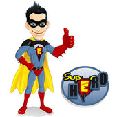 Superhero man with the mantle — Stock Vector