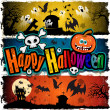 Stock Vector: Happy Halloween banners