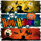 Happy Halloween banners — Stock Vector