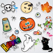 Set Halloween stickers — Imagen vectorial