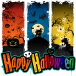 Stock Vector: Halloween banners colors