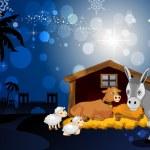 Holy Family in Bethlehem — Stock Vector #33803059