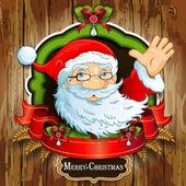Santa claus greeting cards — Stock Vector